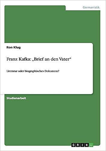"""Franz Kafka: """"Brief an den Vater"""