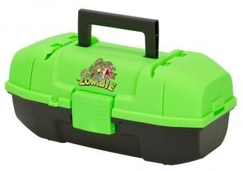 Plano Youth Zombie Fish Tackle Box, Neon Green/Black