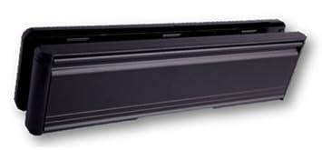 10\u0026quot; UPVC Door Letterbox Letterplate - Black Letter Box - Midrail (40mm-