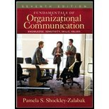 Fundamentals of Organizational Communication Knowledge, Sensitivity, Skills, Values [7th Edition] by Shockley-Zalabak, Pamela S. [Allyn & Bacon,2008] [Hardcover] 7TH EDITION