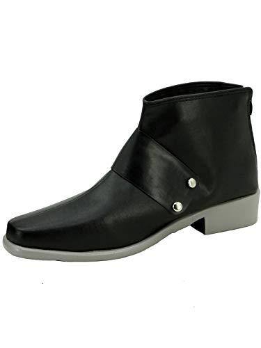 GOTEDDY Qrow Cosplay Booties Halloween Short Boots Black Costume Shoes -
