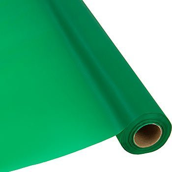 Amscan Reusable Waterproof Jumbo Plastic Table Cover Roll Perfect for Big Parties, 250 ' x 40, Green by Amscan