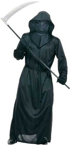 Create A Halloween Costumes (Rubie's Costume Halloween Concepts Black Mesh Face Robe, Black, Standard Costume)