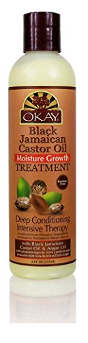 Okay Jamaican Castor Oil Moisture Growth Treatment, Black, 8 Ounce