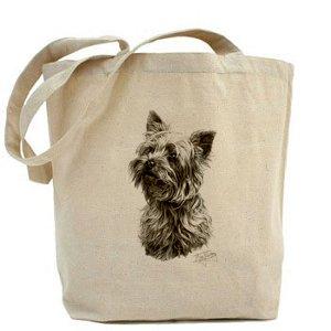 Mike Sibley Yorkshire Terrier in tela, borsa per la spesa, in cotone