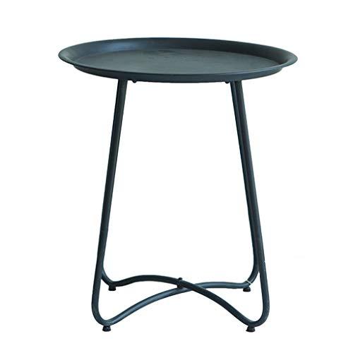 Amazon.com: HY - Mesa de café retro de balcón de hierro ...