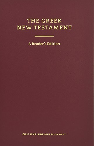 UBS 5th Revised Greek New Testament Reader's Edition: 124377 (English and Greek Edition) (The Text Of The New Testament Aland)