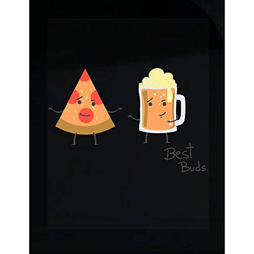Love Peyton T-shirt - Peyton Winks Pizza & Beer - Best Buds Funny - Transparent Sticker