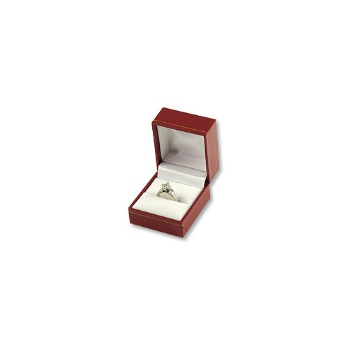 Ring Box Red Leatherette Cartier Design