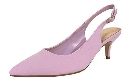 Image of City Classified Women's Pointed Toe Kitten Low Heel Slip-On Slingback Pump Sandals