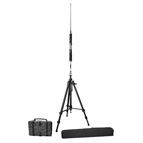 Super Antenna MP1LXMAX Deluxe Tripod 80m-10m HF +2m VHF Portable Antenna with Go Bags ham Radio Amateur