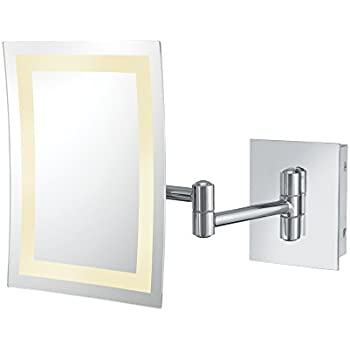Mirror Image 21843 Minimalist Rectangular Wall Mirror 3X