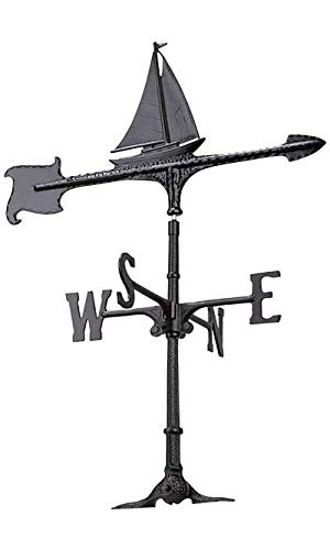 Whitehall Products Sailboat Accent Weathervane, 24-Inch, ()