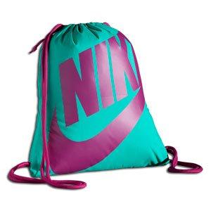 NIKE Heritage Gymsack Lightweight Bag, Atomic Teal/Sport Fuchsia ...
