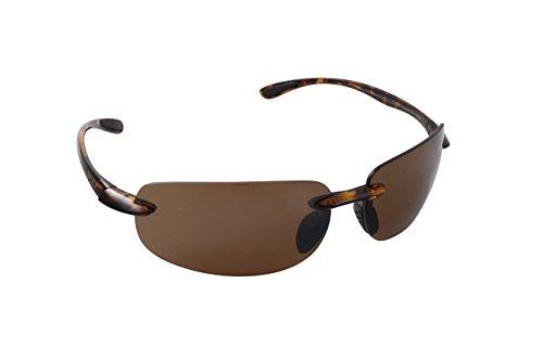 Top Deck Intracoastal Polarized Sunglasses, Tortoise Frame, Amber Flash Mirror/Smoke Lens