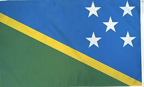 - Mikash 3x5 Solomon Islands Nylon/Poly Blend Flag 3x5 House Banner Brass Grommets   Model FLG - 3575