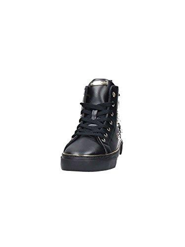 Guess Sneakers Hi Lacci Spille Donna Pelle White Bianco FLGAR3ELE12 Inverno 2018 nrrF7spa