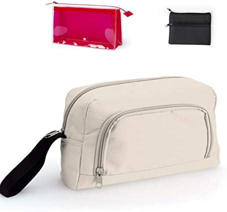 Funny YAS Pack Neceser para Hombre Viaje con 2 Compartimentos + Neceser Transparente para Afeitadora y para Playa o Piscina + Monedero Polipiel