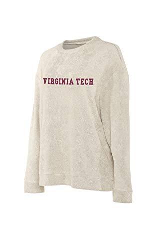 Elite Fan Shop Virginia Tech Hokies Women's Crew Pullover Sweatshirt - M - Oatmeal (Virginia Pullover)