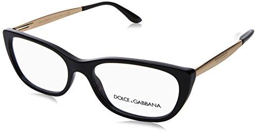 (Dolce&Gabbana DG3279 Eyeglass Frames 501-53 - Black)