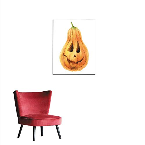 longbuyer Photo Wall Paper Bright Orange Pumpkin Isolated on White Background Symbol of Holiday Halloween Mural 32