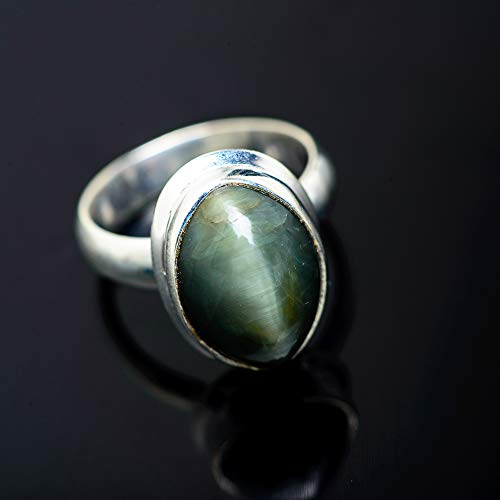 Ana Silver Co Cat's Eye 925 Sterling Silver Ring Size 6 - Handmade Jewelry, Bohemian, Vintage RING950403