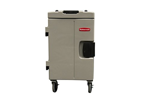 Rubbermaid Commercial Products FG940888PLAT CaterMax 100 Insulated Food Service Pan Carrier, 94 quart Wheeled, Platinum by Rubbermaid Commercial Products