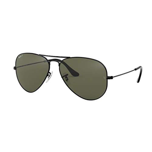 Ray-Ban Unisex Sunglasses, Black Lenses Metal Frame, ()