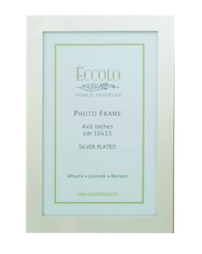 International Silver Plated - Eccolo World Traveler Simple Elegance Silver Plated Frame, Holds a 5 x 7-Inch Photo