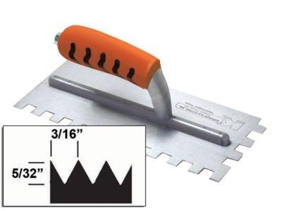 Kraft Tool ST408PF Saw tooth V-Notch Trowel with ProForm Handle