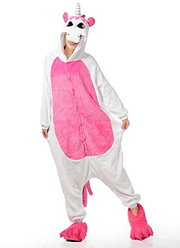 Women's Sleepwear New Unicorn Family Adult Cosplay Kigurumi Pajamas Christmas Costume (M//Height156-165CM,Rose Unicorn) -