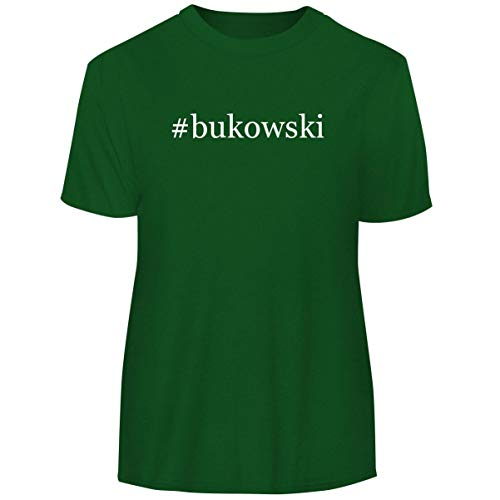 One Legging it Around #Bukowski - Hashtag Men's Funny Soft Adult Tee T-Shirt, Green, Small