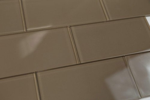 Tile Mosaic Custom (Dark Hazelnut Brown Subway Glass Tile Hand Crafted and Custom Made. Perfect for kitchens and bathrooms, Sample)