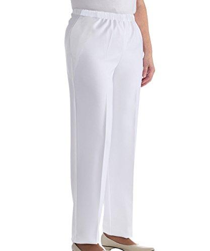 Waist Elastic Pocket Two (Silvert's Womens Elastic Waist Two Pocket Petite Pants - White 18 P)