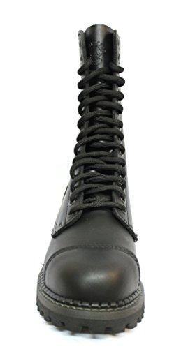Grinders Herald 2015 Mattlack Schwarz Unisex Sicherheit Stahlkappe Militär Punk Stiefel