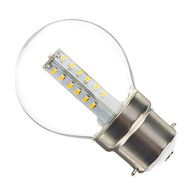 ZQ Modern LED bulb light Bombillas Globo Decorativa G B22 3 W 25 SMD 3014 180-210 LM 2700-3200 K Blanco C¨¢lido AC 100-240 V - - Amazon.com
