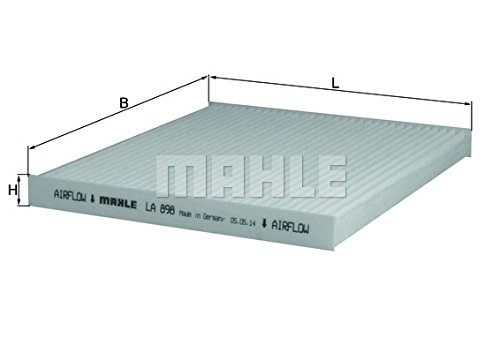 Mahle Original Genuine Replacement Pollen Cabin Interior Air Filter LA898