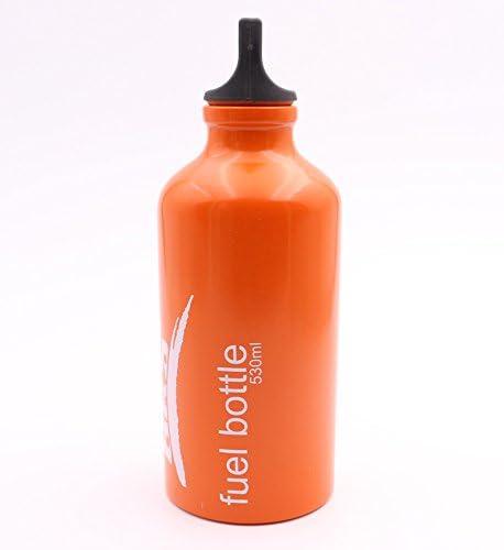 BRS 2 piezas Botellas vacias de combustible Camping hornillo Botella de aceite Leakproof Fuel Bottle 530ML