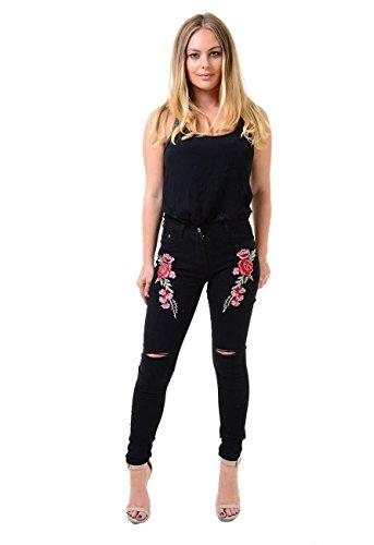 Rewatronics - Jeans - Jegging - Femme Black Rose