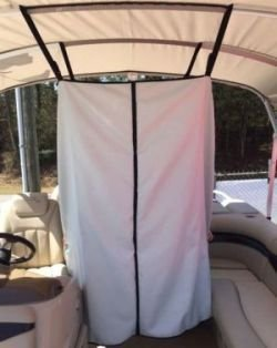 "Universal Boat Bimini Top 60"" Adjustable Privacy Curtain Changing Room Accessories by Carver Industries"