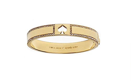 Kate Spade Women's Hole Punch Spade Gold Tone with Crystals Bangle -
