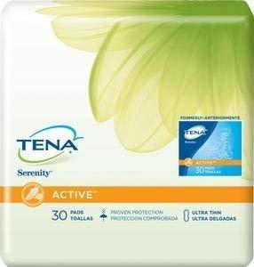 Serenity Driactive Slender Pads - TENA Serenity Bladder Control Pads, Serenity Driactive Slender Pad, (1 PACK, 30 EACH)