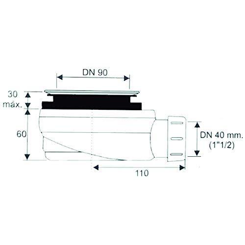 DUSCHWANNE MINERALGUSS SCHIEFER TEXTUR MIT GELCOAT 100x120 cm wei/ß RAL 9003