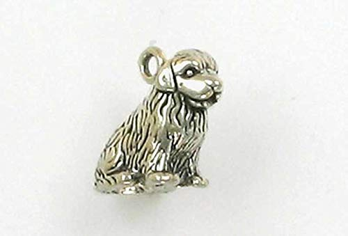Sterling Silver 3-D Newfoundland Dog Charm for Jewelry Making Bracelet Necklace DIY Crafts