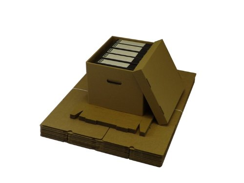 20 LARGE ARCHIVE STORAGE CARDBOARD BOXES WITH LID Pack King