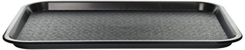 Winco Fast Food Tray, 12 by 16-Inch, Black]()