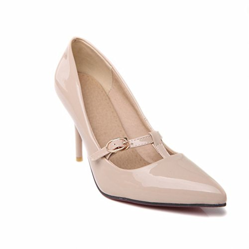Charm Foot Fashion Womens High Heel Stiletto Pumps Shoes Apricot S1Wz2XNdxo