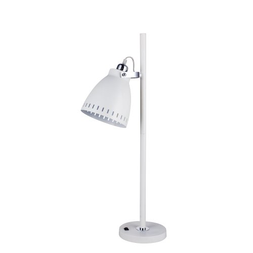 FANGIO 1416WHT 30-Inch Metal Tree Table Lamp in White, White