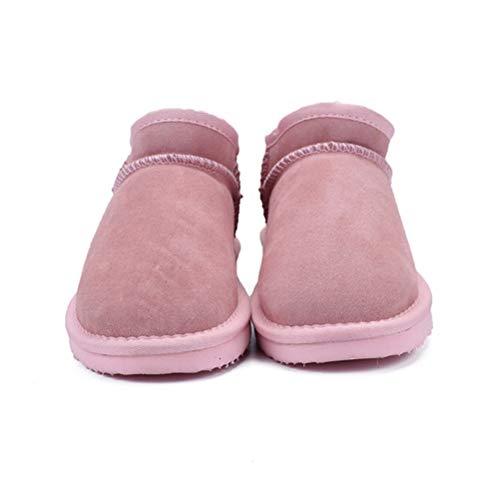 Peluche Lfeu Pink Per Con Donna Imbottitura Scarponi Da In Neve Light Invernali qAawHqz