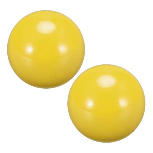 uxcell Joystick Ball Top Handle Rocker Round Head Arcade Fighting Game DIY Parts Replacement Yellow 2Pcs
